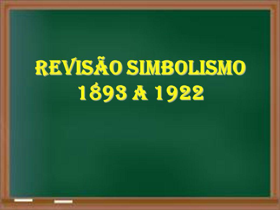 REVISÃO SIMBOLISMO 1893 A 1922