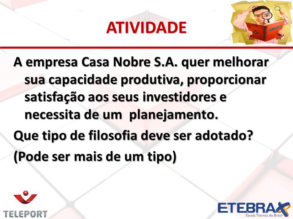 ATIVIDADE A empresa Casa Nobre S.A.