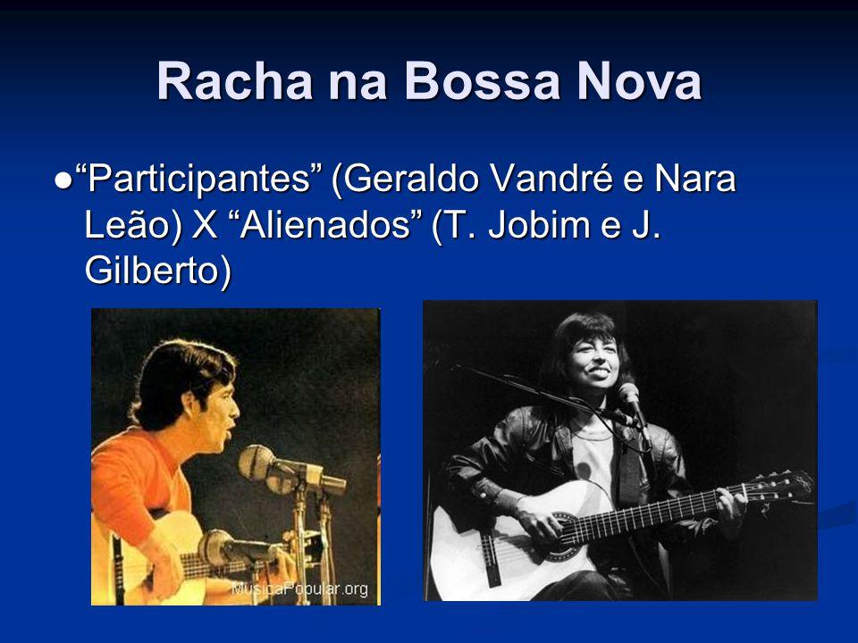 """Racha na Bossa Nova ●""""Participantes"""" (Geraldo Vandré e Nara Leão) X """"Alienados"""" (T. Jobim e J. Gilberto)"""