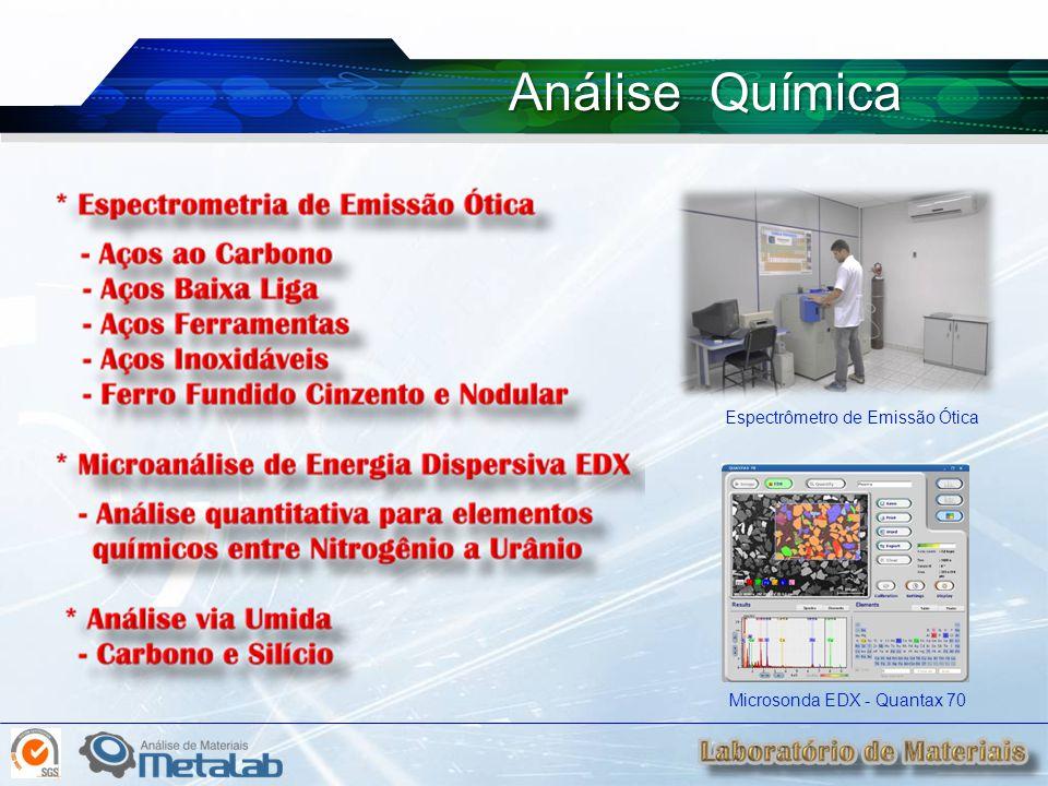 Análise Química Microsonda EDX - Quantax 70 Espectrômetro de Emissão Ótica