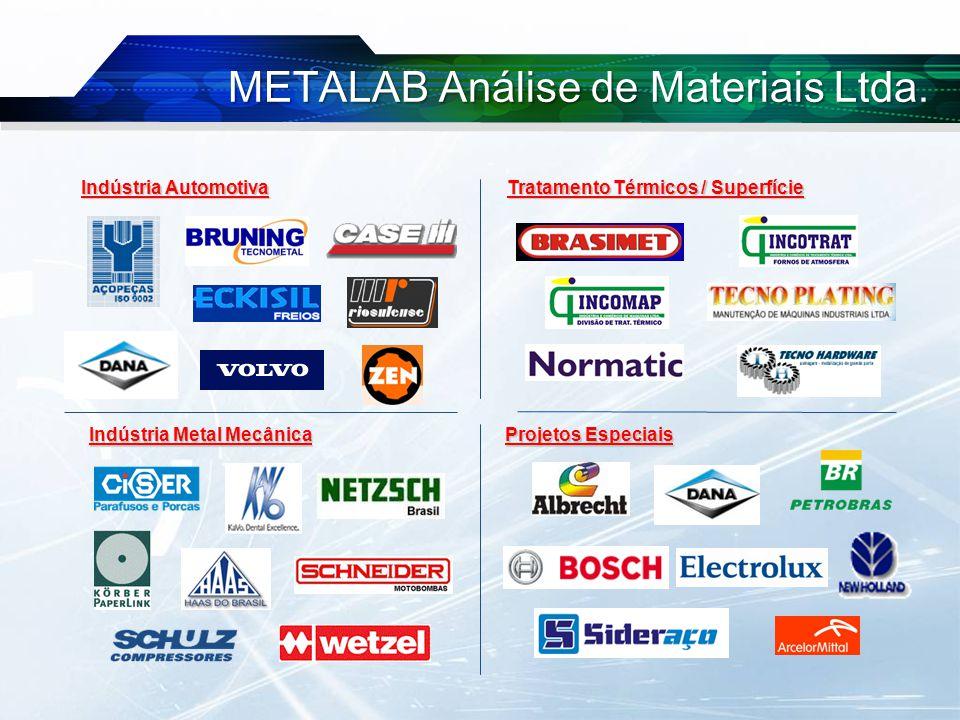 Indústria Automotiva Indústria Metal Mecânica Tratamento Térmicos / Superfície Projetos Especiais METALAB Análise de Materiais Ltda.