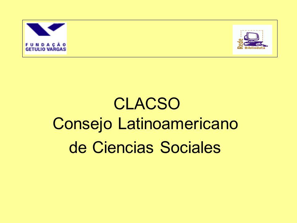 CLACSO Consejo Latinoamericano de Ciencias Sociales