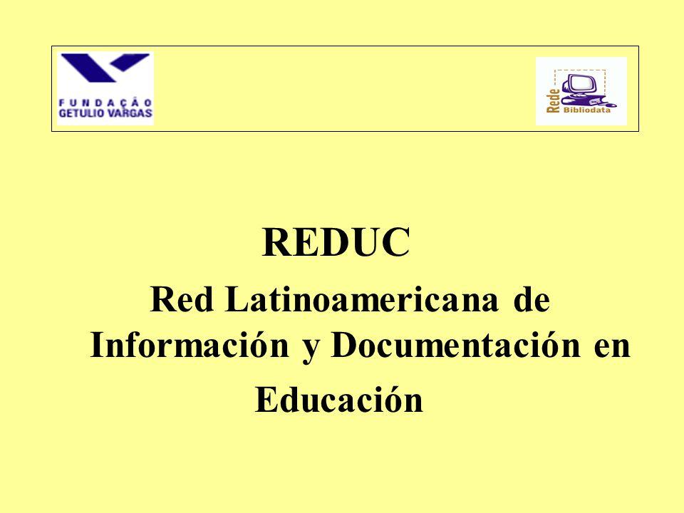 REDUC Red Latinoamericana de Información y Documentación en Educación