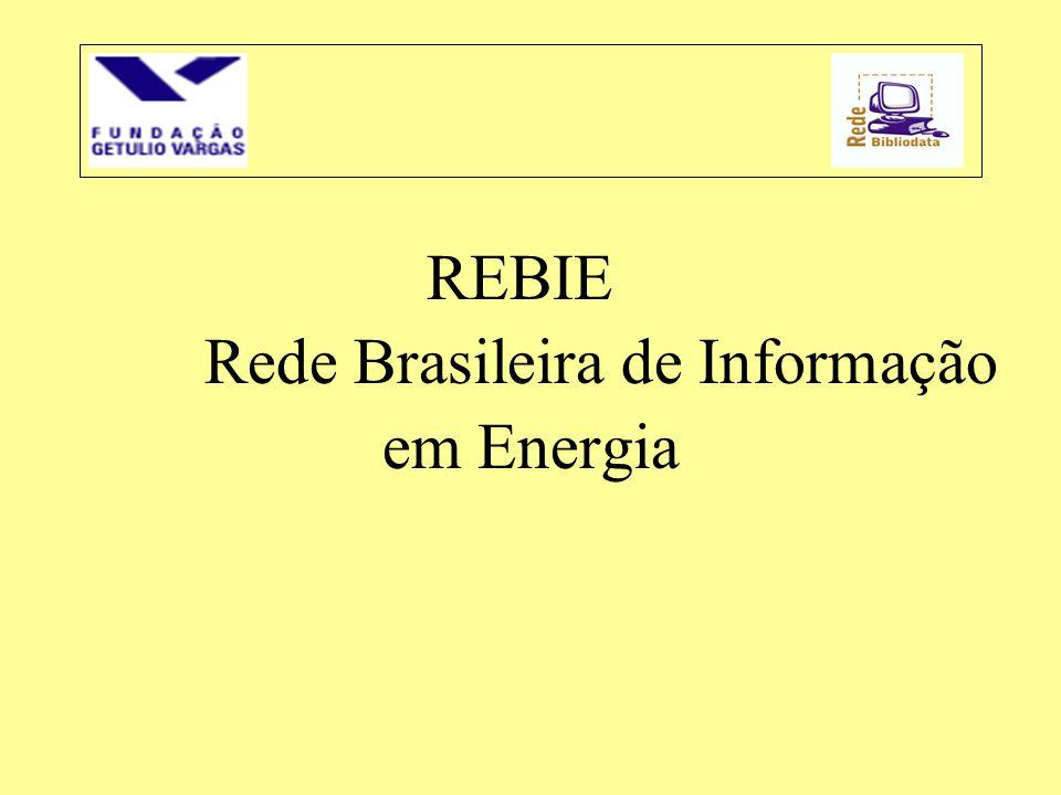 REBIE Rede Brasileira de Informação em Energia