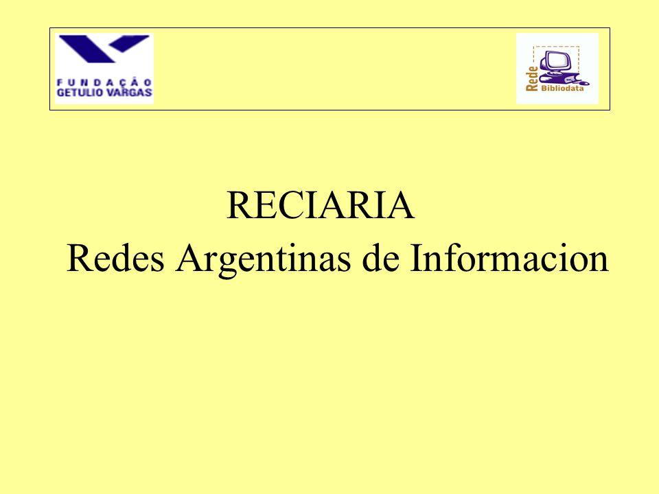 RECIARIA Redes Argentinas de Informacion