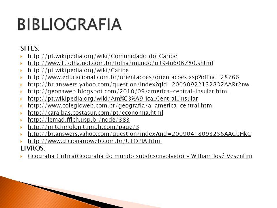 SITES:  http://pt.wikipedia.org/wiki/Comunidade_do_Caribe  http://www1.folha.uol.com.br/folha/mundo/ult94u606780.shtml  http://pt.wikipedia.org/wik