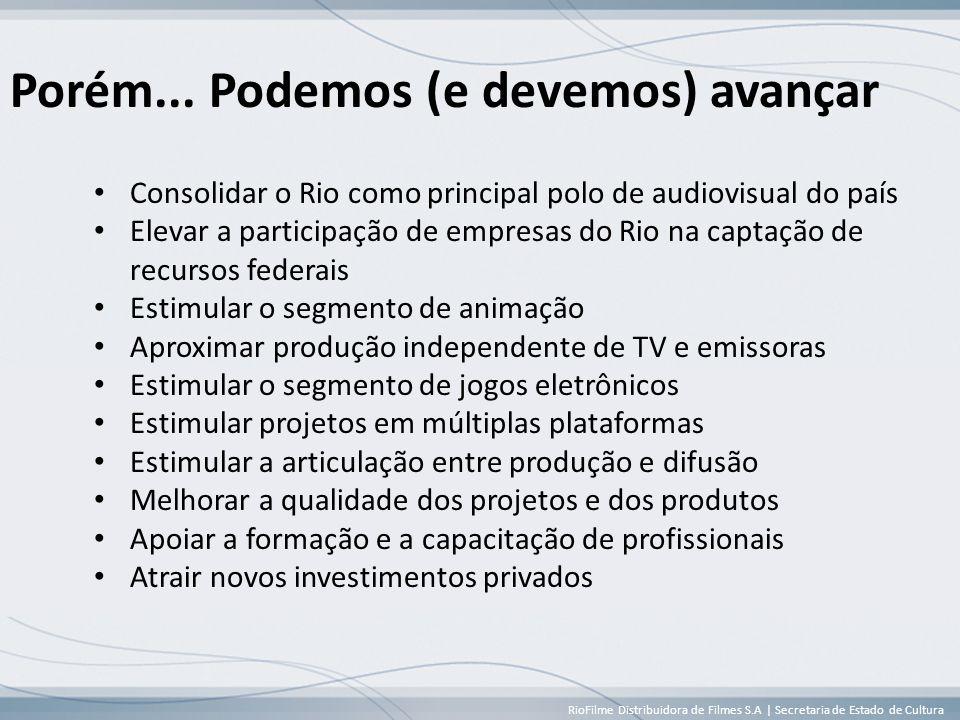 RioFilme Distribuidora de Filmes S.A | Secretaria de Estado de Cultura Porém...