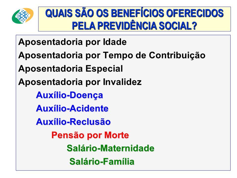 """"""" A Previdência Social oferece um plano de benefícios que protege não só o segurado, como também seus dependentes, garantindo a reposição da renda por"""