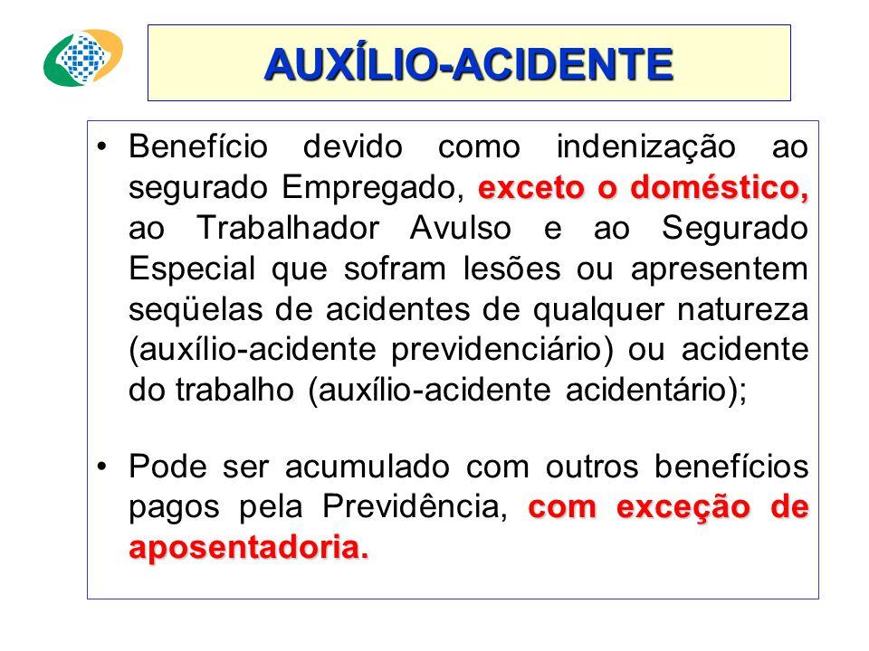 APOSENTADORIA POR INVALIDEZ •No caso de incapacidade provocada por acidentes de qualquer natureza não é exigida carência; 100% 25% •O valor do benefíc