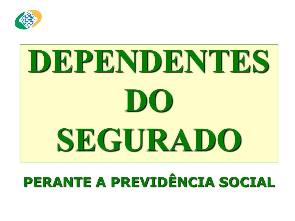 DEPENDENTES DO SEGURADO PERANTE A PREVIDÊNCIA SOCIAL