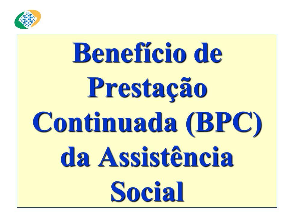 Benefício de Prestação Continuada (BPC) da Assistência Social