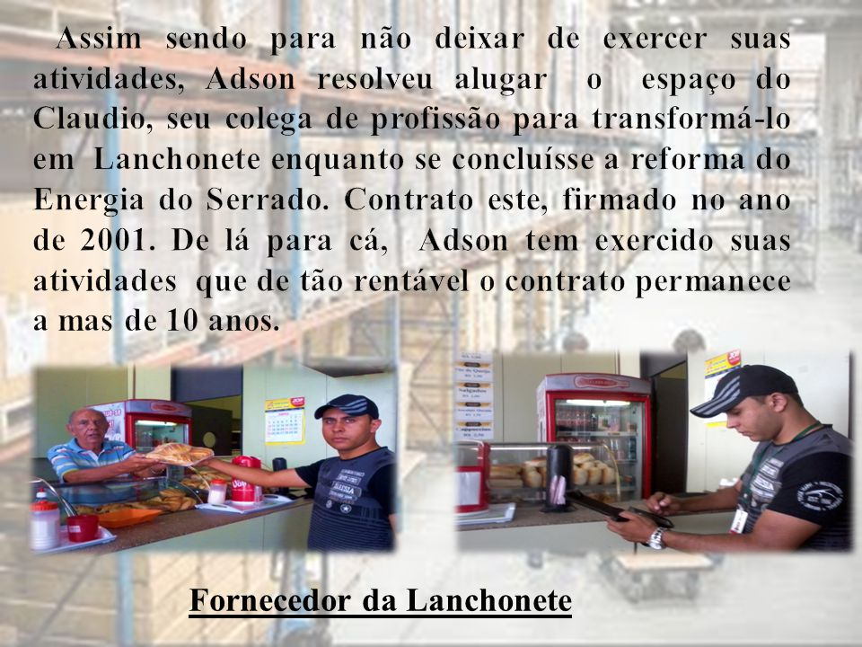 Fornecedor da Lanchonete
