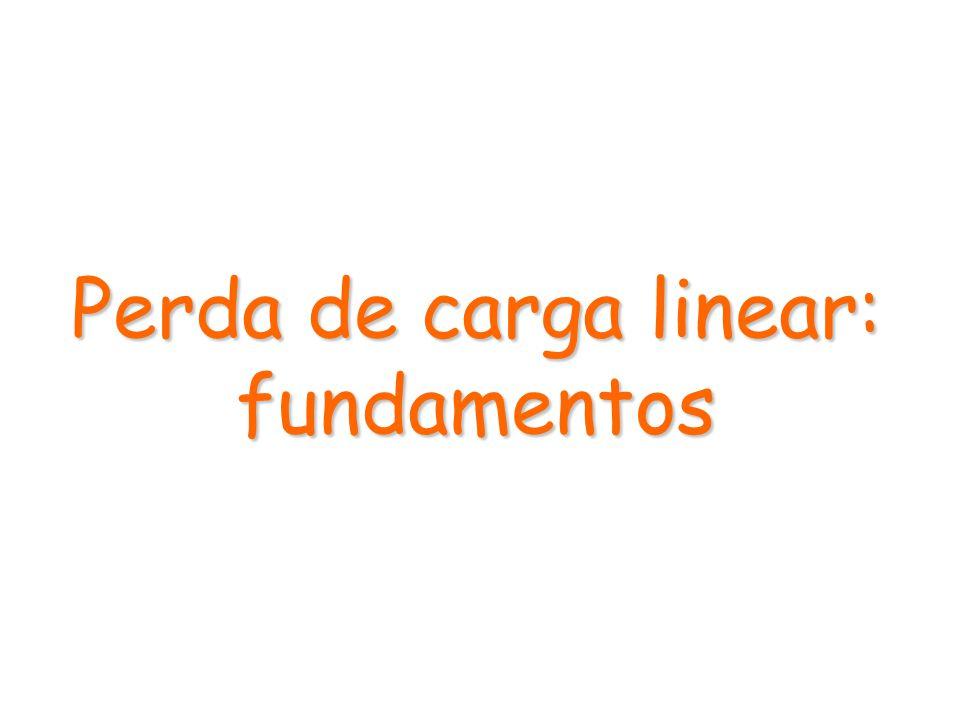 Perda de carga linear: fundamentos