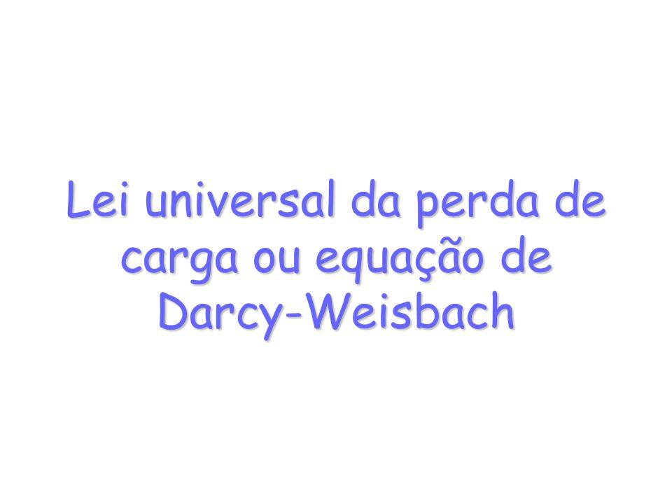 Lei universal da perda de carga ou equação de Darcy-Weisbach