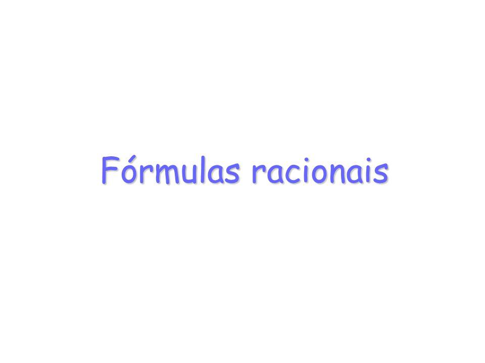 Fórmulas racionais