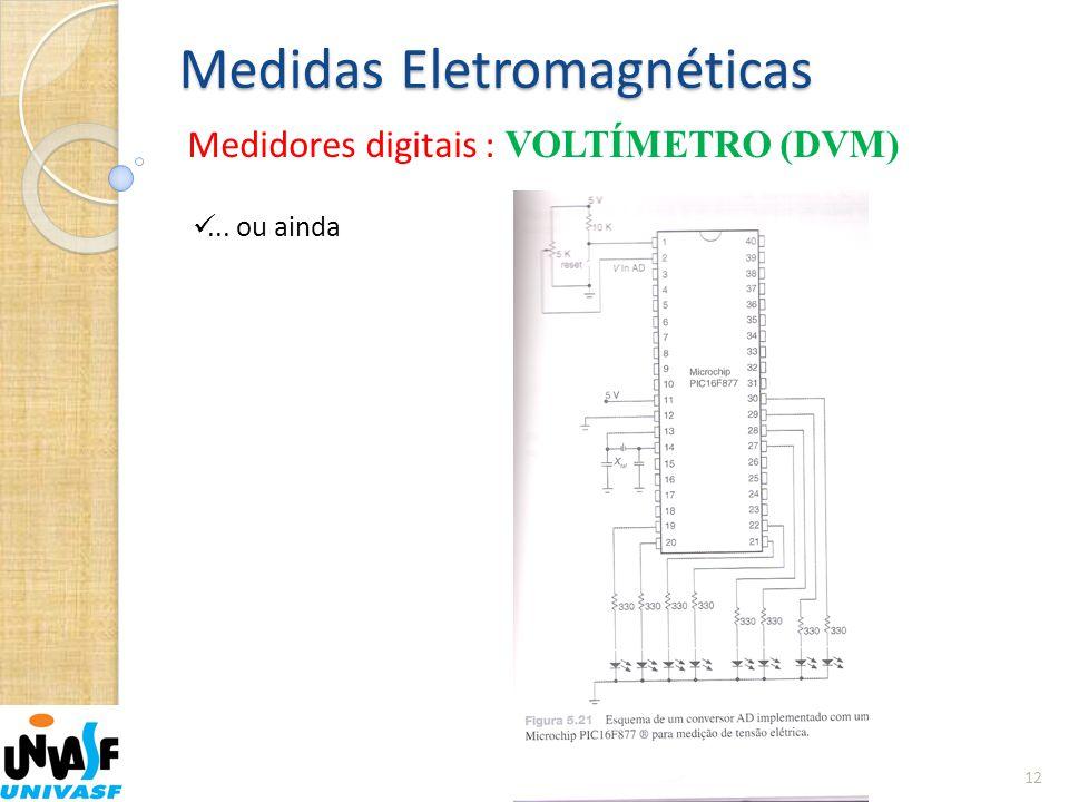 Medidas Eletromagnéticas Medidores digitais : VOLTÍMETRO (DVM) 12 ... ou ainda