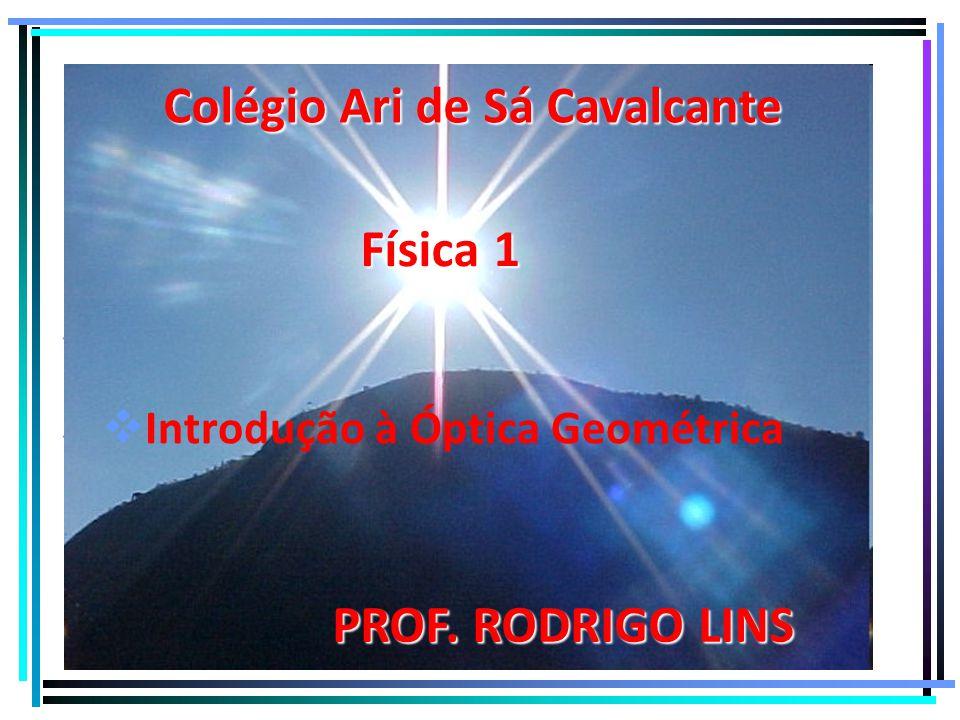   IIntrodução à Óptica Geométrica Colégio Ari de Sá Cavalcante Física 1 PROF. RODRIGO LINS