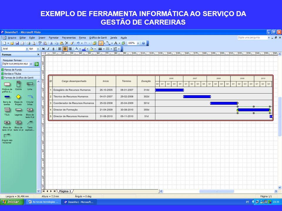 EXEMPLO DE FERRAMENTA INFORMÁTICA AO SERVIÇO DA GESTÃO DE CARREIRAS