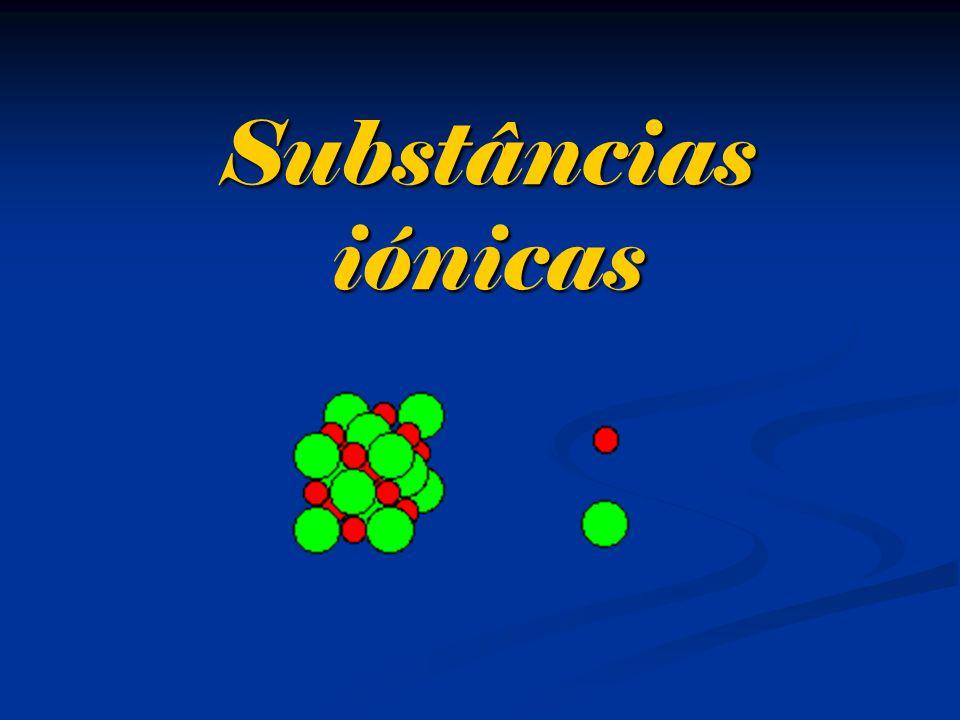 Substâncias iónicas