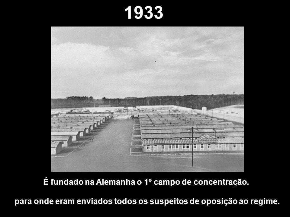 É fundado na Alemanha o 1º campo de concentração.