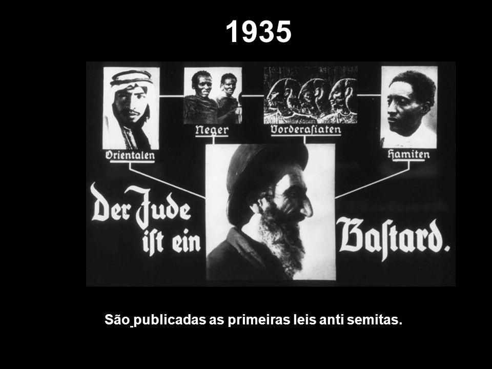 1935 São publicadas as primeiras leis anti semitas.