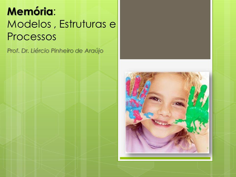 Memória Memória : Modelos, Estruturas e Processos Prof. Dr. Liércio Pinheiro de Araújo