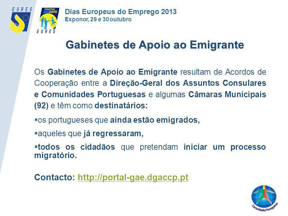 Os Gabinetes de Apoio ao Emigrante resultam de Acordos de Cooperação entre a Direção-Geral dos Assuntos Consulares e Comunidades Portuguesas e algumas