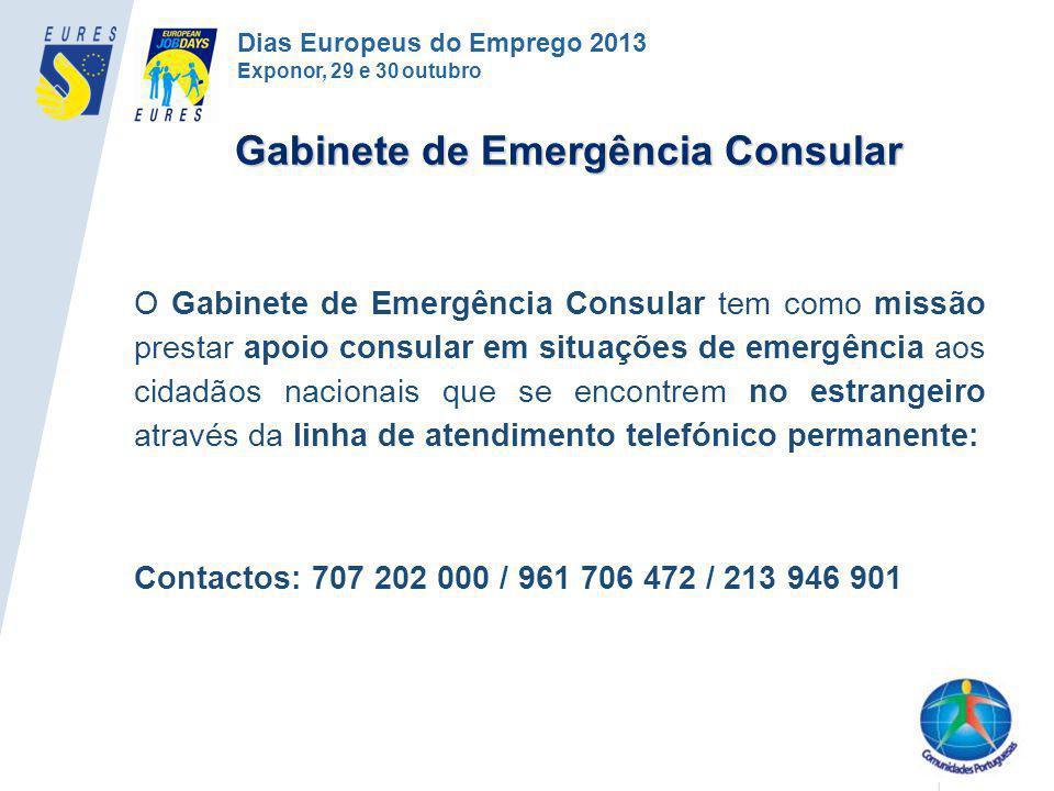 O Gabinete de Emergência Consular tem como missão prestar apoio consular em situações de emergência aos cidadãos nacionais que se encontrem no estrang