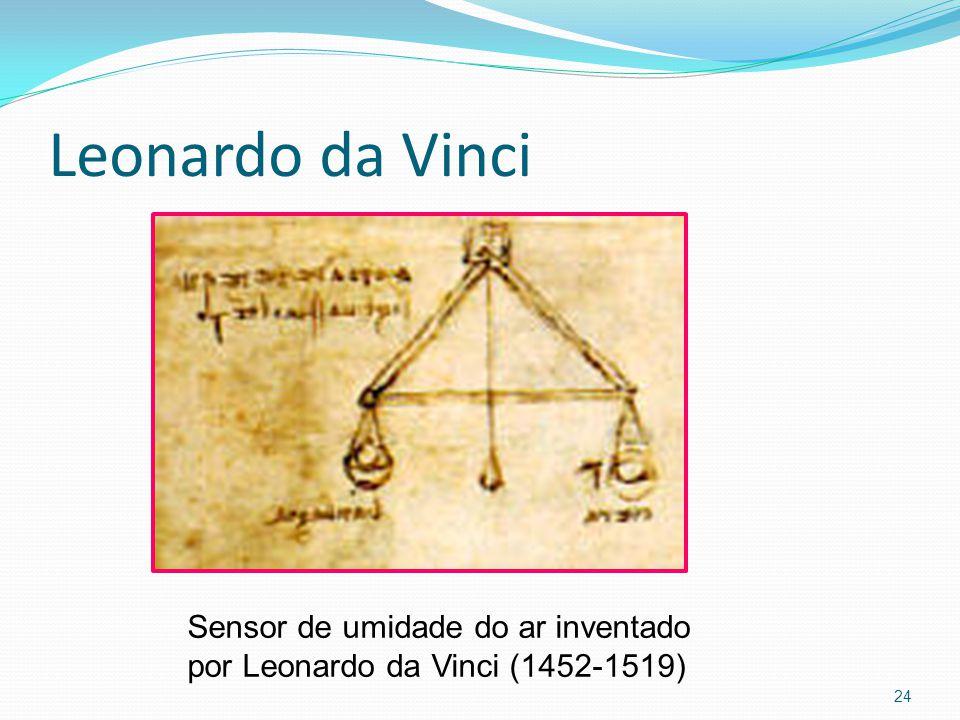 Leonardo da Vinci 24 Sensor de umidade do ar inventado por Leonardo da Vinci (1452-1519)