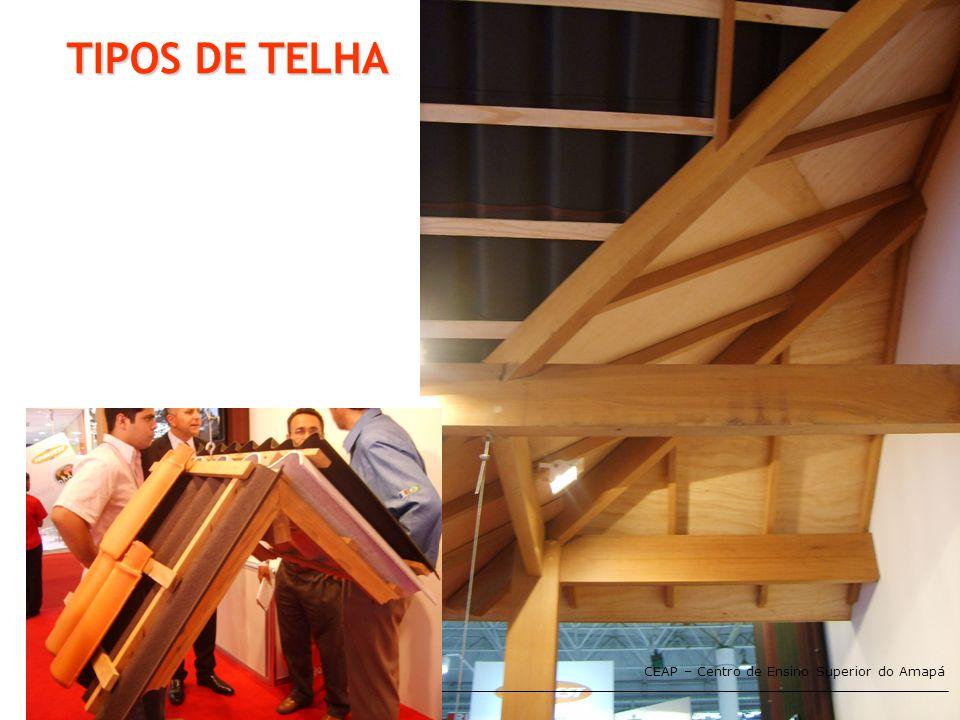 CEAP – Centro de Ensino Superior do Amapá TIPOS DE TELHA