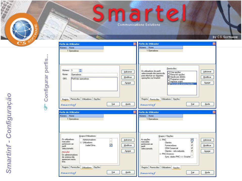 Smartinf - Configuração  Configurar perfis...