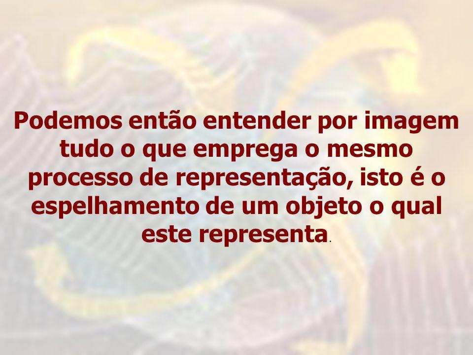 Podemos então entender por imagem tudo o que emprega o mesmo processo de representação, isto é o espelhamento de um objeto o qual este representa.