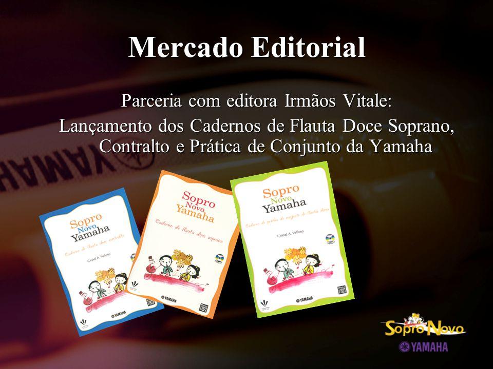 Mercado Editorial Parceria com editora Irmãos Vitale: Lançamento dos Cadernos de Flauta Doce Soprano, Contralto e Prática de Conjunto da Yamaha