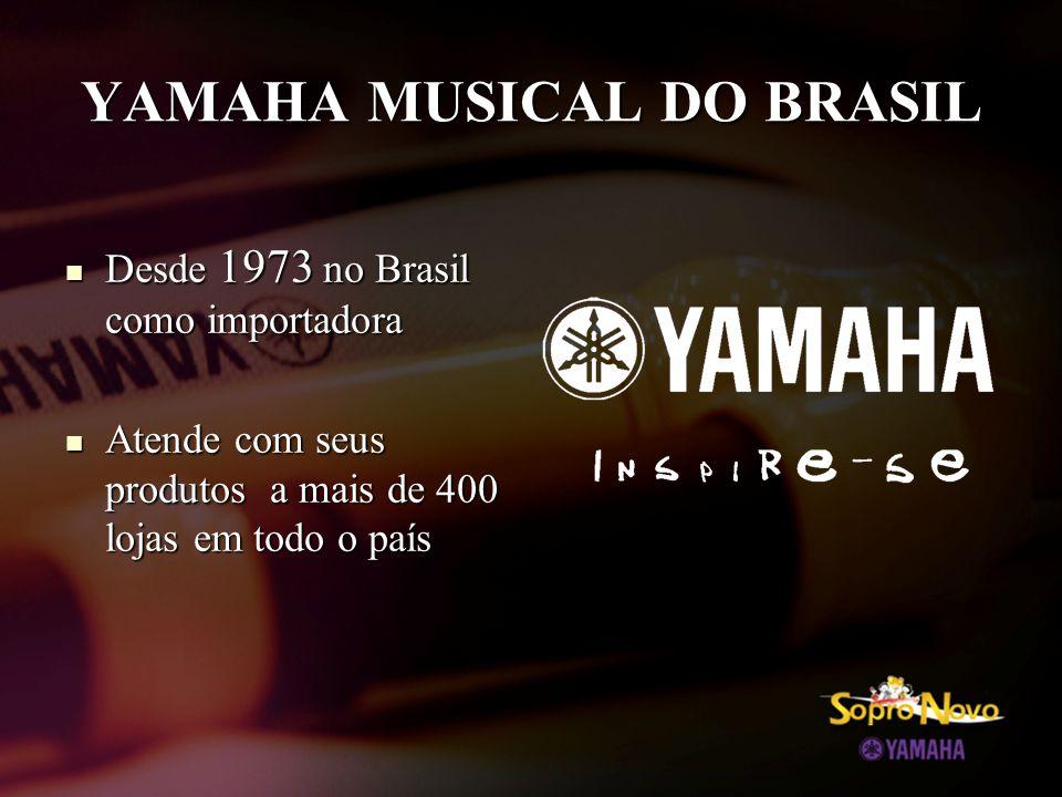 VISÃO YAMAHA A Yamaha continua a criar o KANDO , e a proporcionar o enriquecimento cultural e tecnológico, a paixão pelo som e pela música a todas as pessoas do mundo.