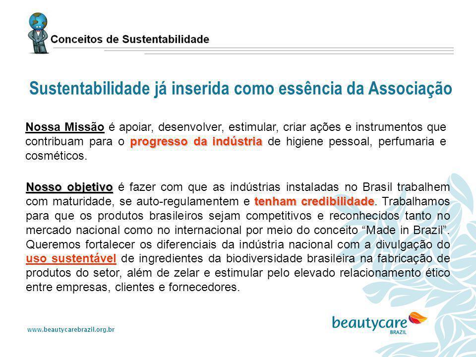 www.beautycarebrazil.org.br progresso da indústria Nossa Missão é apoiar, desenvolver, estimular, criar ações e instrumentos que contribuam para o pro