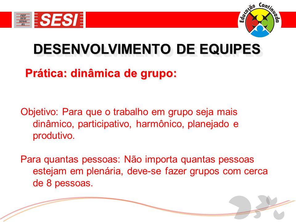 DESENVOLVIMENTO DE EQUIPES Alerta