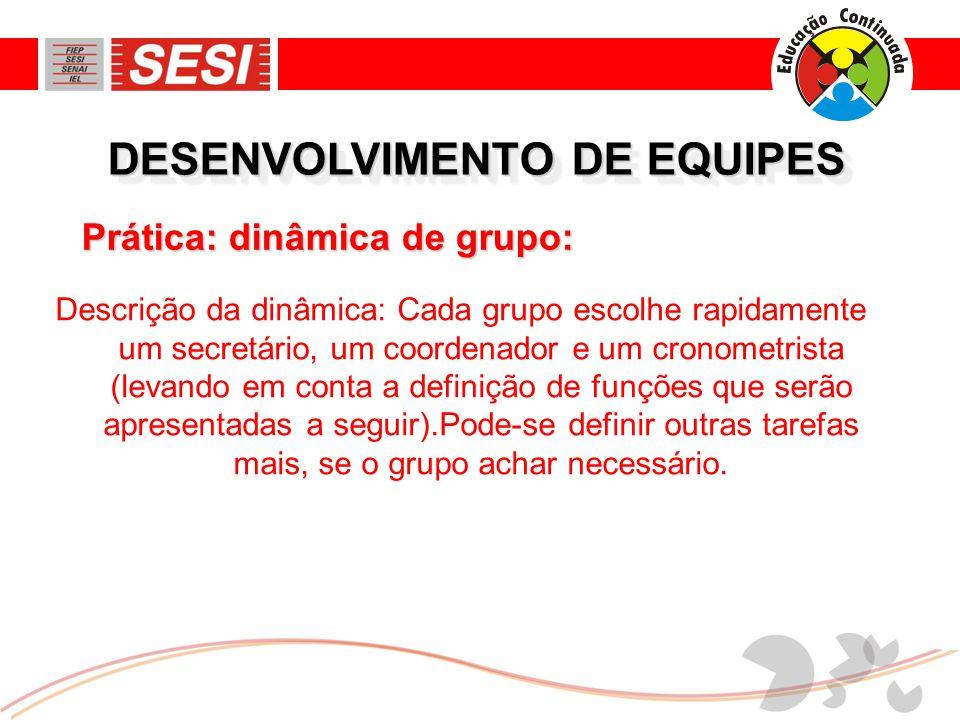 DESENVOLVIMENTO DE EQUIPES O grupo, então, faz seu planejamento: a) O método que será seguido, as etapas, o trabalho pessoal e grupal, etc.