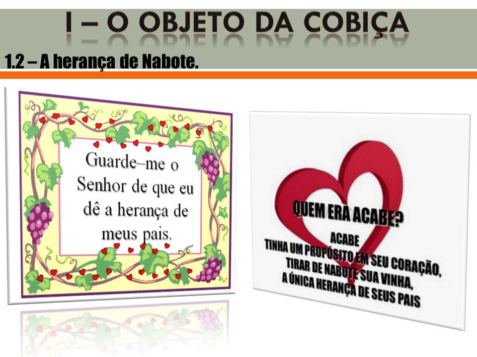 1.2 – A herança de Nabote.