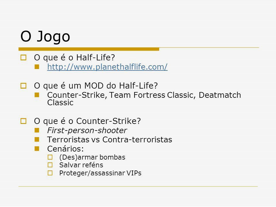 O Jogo  O que é o Half-Life?  http://www.planethalflife.com/ http://www.planethalflife.com/  O que é um MOD do Half-Life?  Counter-Strike, Team Fo