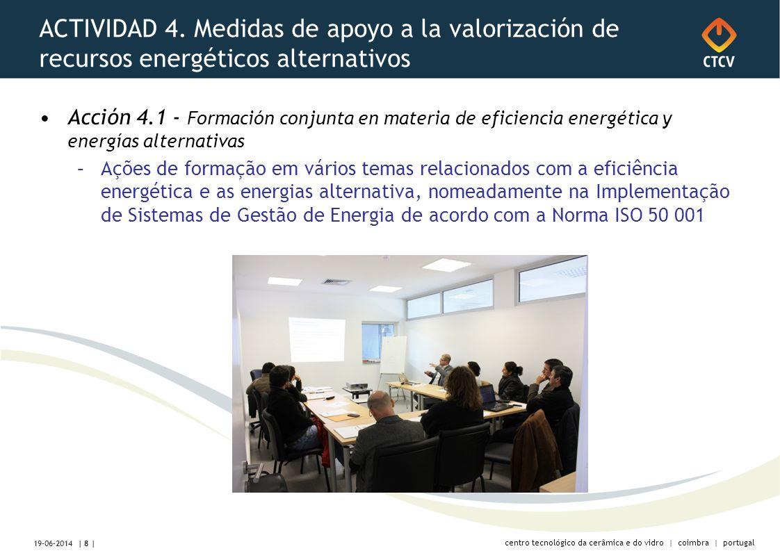 centro tecnológico da cerâmica e do vidro | coimbra | portugal ACTIVIDAD 4.