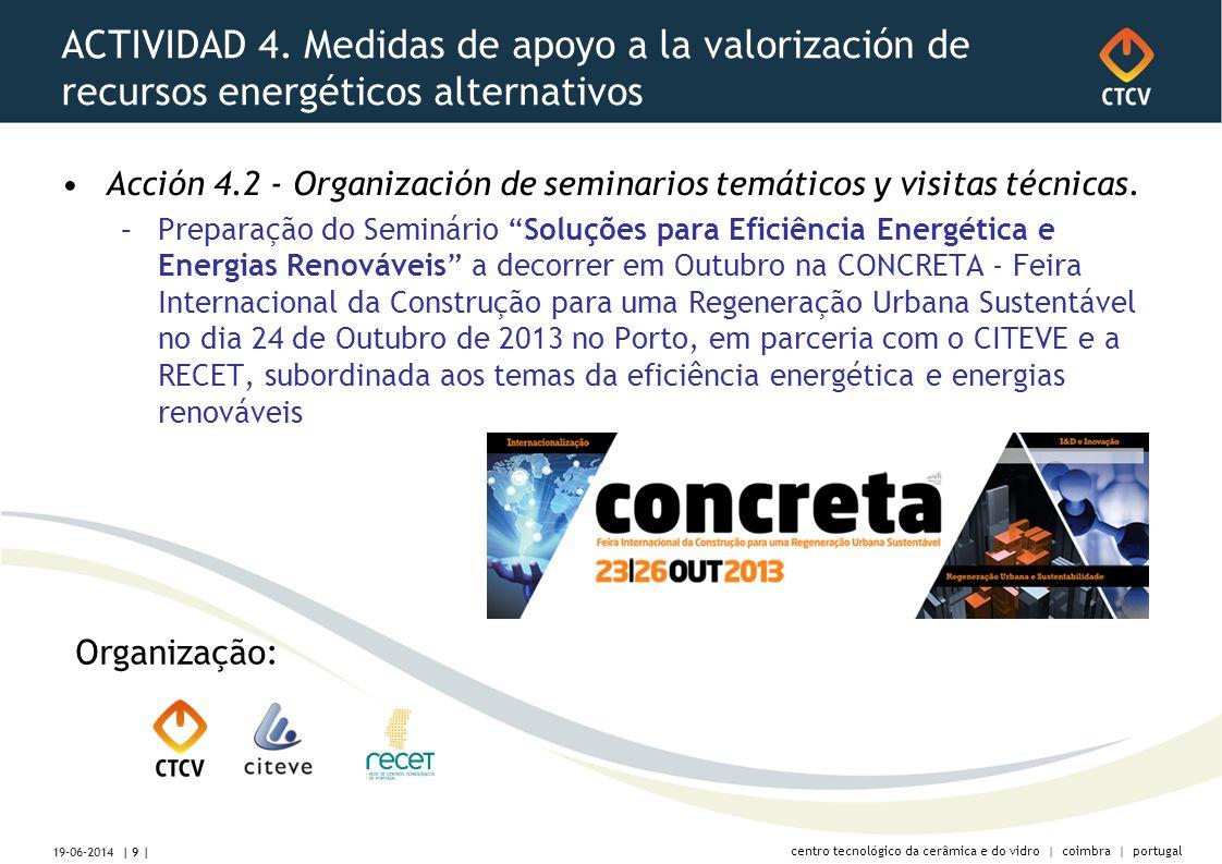 centro tecnológico da cerâmica e do vidro   coimbra   portugal ACTIVIDAD 5.