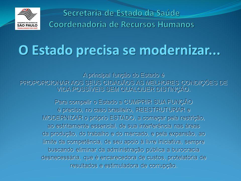 A principal função do Estado é PROPORCIONAR AOS SEUS CIDADÃOS AS MELHORES CONDIÇÕES DE VIDA POSSÍVEIS SEM QUALQUER DISTINÇÃO.