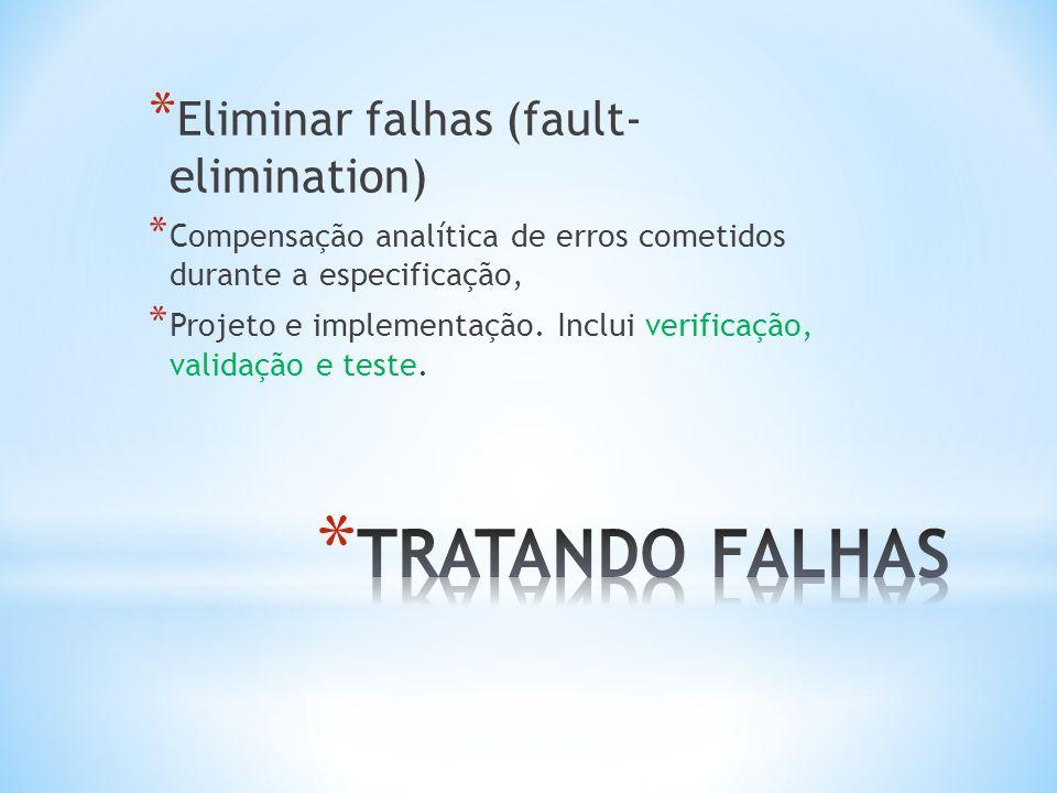 * Tolerar falhas (fault-tolerance) * Compensação em tempo real de problemas residuais como mudanças fora da especificação no ambiente operacional, erros de usuário, etc.