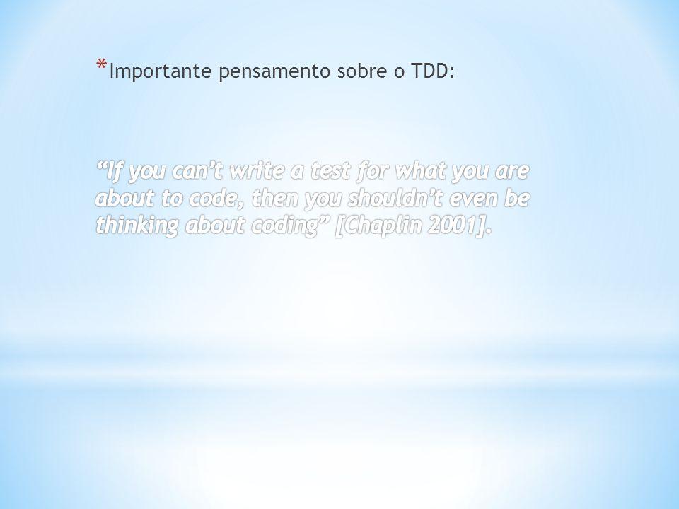 O grupo que desenvolveu com TDD escreveu os casos de teste antes de começar a implementação.