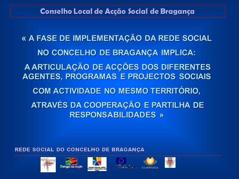 Conselho Local de Acção Social de Bragança REDE SOCIAL DO CONCELHO DE BRAGANÇA ORDEM DE TRABALHOS: Ponto 1 - Assuntos diversos Ponto 1 - Assuntos diversos Ponto 2 - Adesão de novos parceiros Ponto 2 - Adesão de novos parceiros Ponto 3 - Aprovação do Plano de Trabalho 2005 Ponto 3 - Aprovação do Plano de Trabalho 2005 Ponto 4 - Sensibilização para o Pré-Diagnóstico Ponto 4 - Sensibilização para o Pré-Diagnóstico Ponto 5 - Acções previstas para 2006 Ponto 5 - Acções previstas para 2006