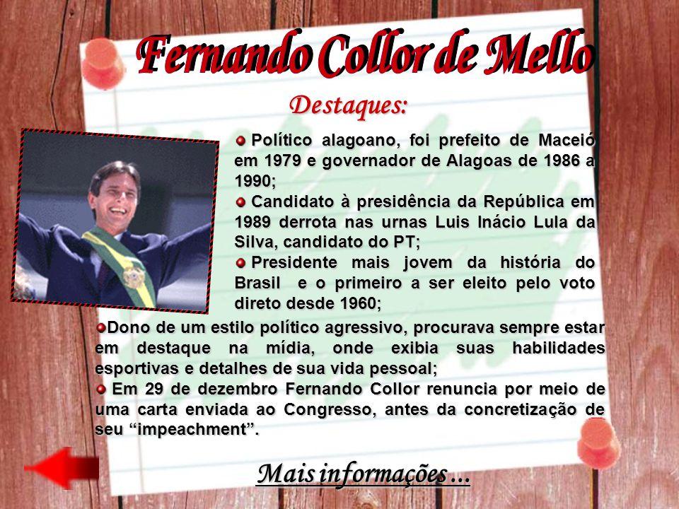 Destaques: Político alagoano, foi prefeito de Maceió em 1979 e governador de Alagoas de 1986 a 1990; Político alagoano, foi prefeito de Maceió em 1979