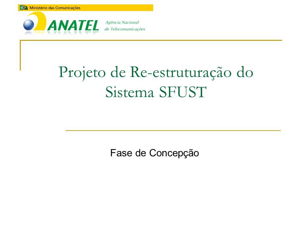 Projeto de Re-estruturação do Sistema SFUST Fase de Concepção