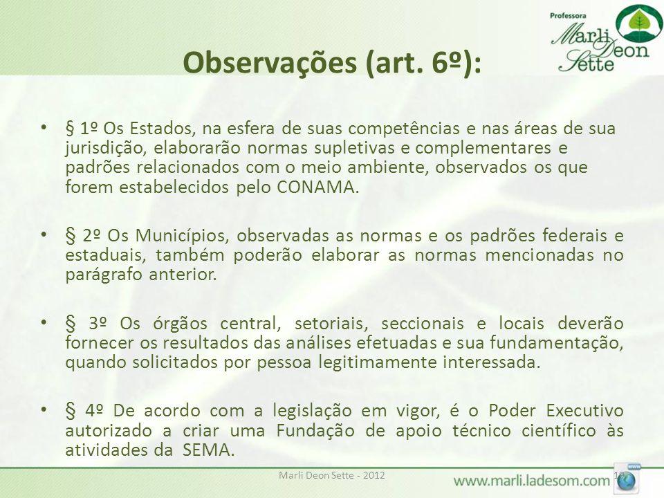 Marli Deon Sette - 201219 Observações (art.