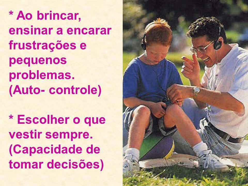 * Crianças que se auto medicam por problemas psicológicos e crianças pobres com pouca possibilidade de sucesso.