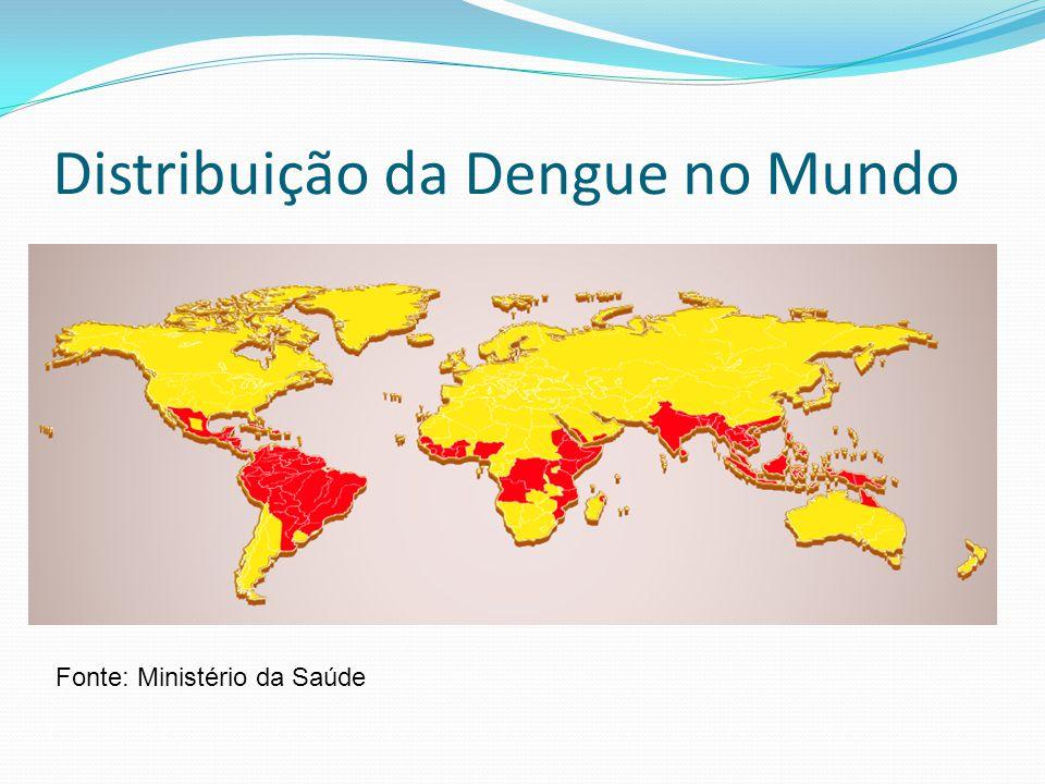 Distribuição da Dengue no Mundo Fonte: Ministério da Saúde